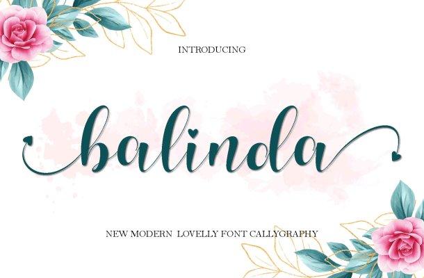 Balinda Calligraphy Font