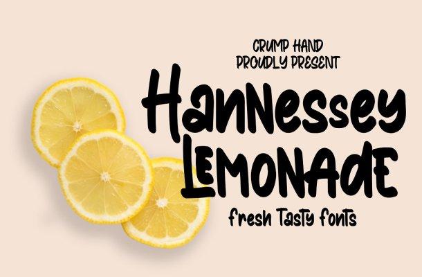 Hannessy Lemonade Display Font