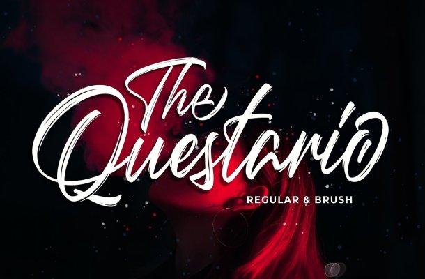 Questario Brush Style Font
