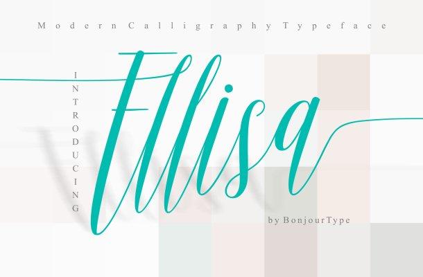 Ellisa Script Font