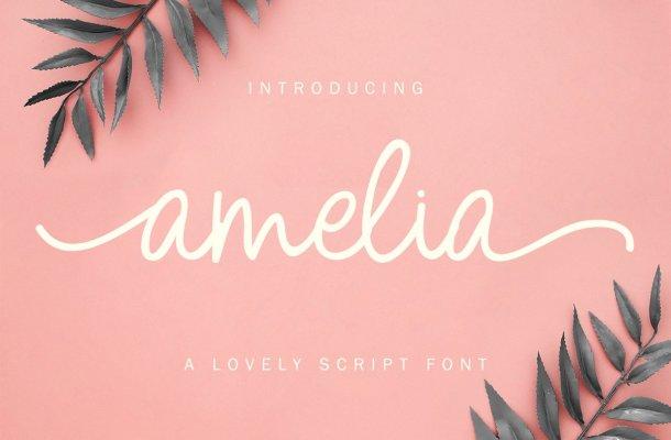 Amelia Lovely Script Font