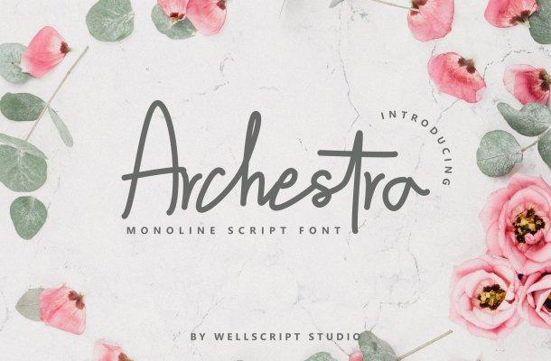 Archestra – Handwritten Script Font