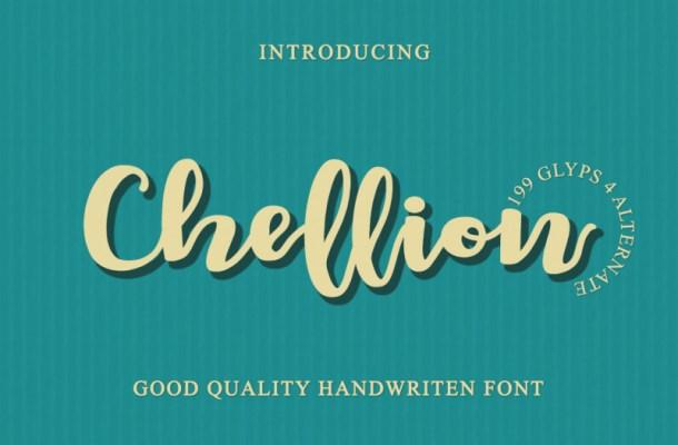 Chellion Script Font