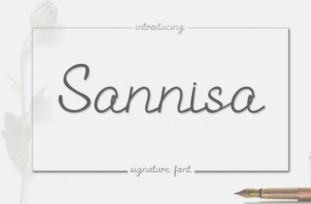 Sannisa Script Font