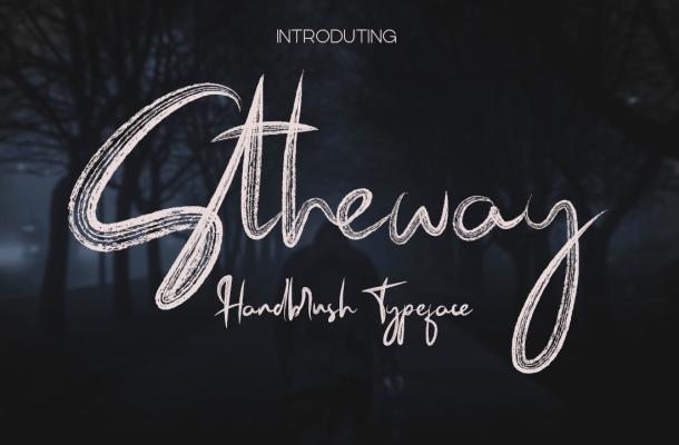 Stheway Brush Font