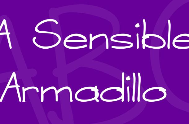 A Sensible Armadillo Font