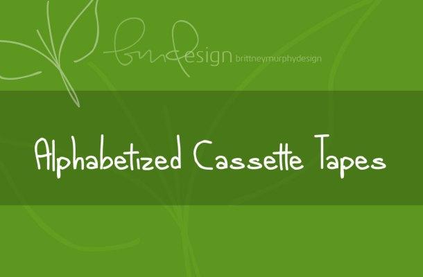 alphabetized cassette tapes Font