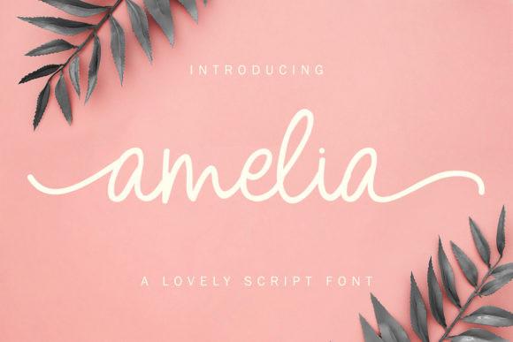 Amelia – Lovely Script Font