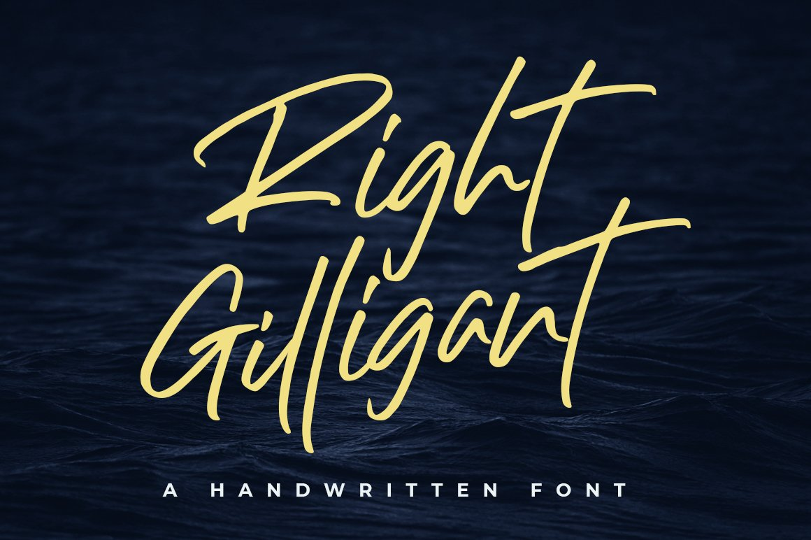 Right-Gilligant-Font