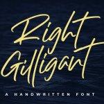 Right Gilligant Brush Font