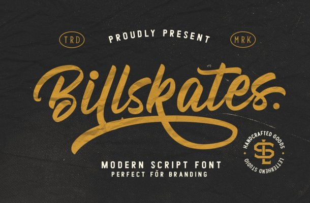 Billskates Script Font