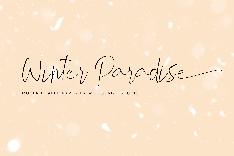 Winter-Paradise-Font