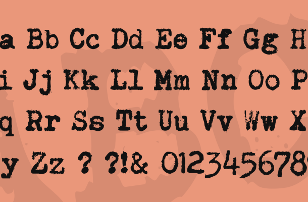 Brother Deluxe 1350 Font Font
