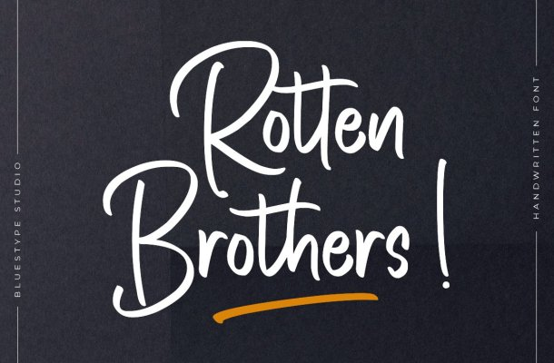 Rotten Brothers Script Font