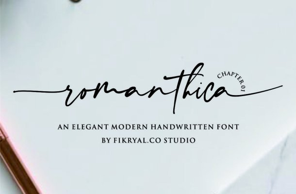 Romanthica Script Font