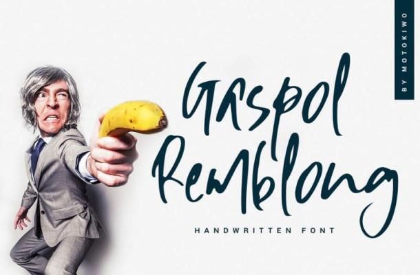 Gaspol Remblong Handwritten Font