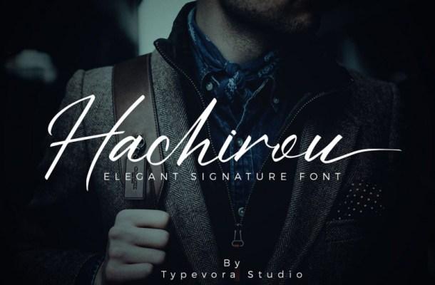 Hachirou Signature Font