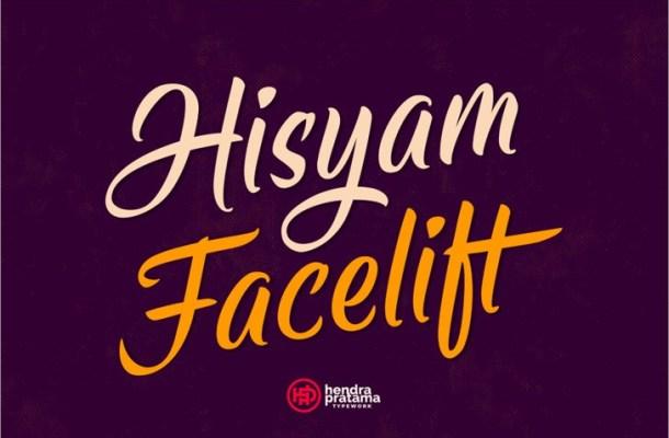 Hisyam Facelift Script Font