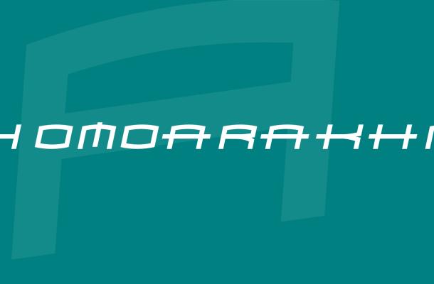 Homoarakhn Font