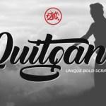 Quitgan Bold Script Font