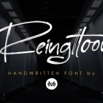 Reingttoon Brush Font