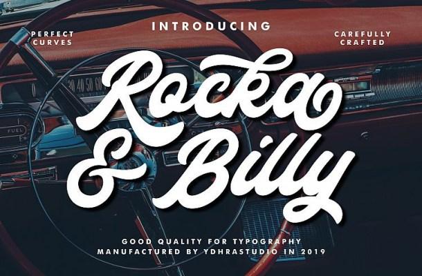 Rocka & Billy Bold Script Font