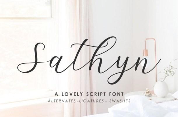 Sathyn Script Font