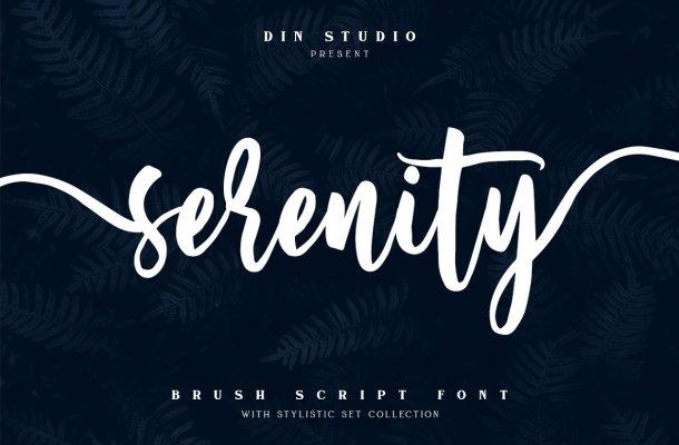 Serenity Script Font