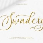 Swadery Script Font