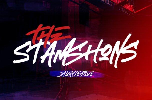 The Stamshons Brush Font