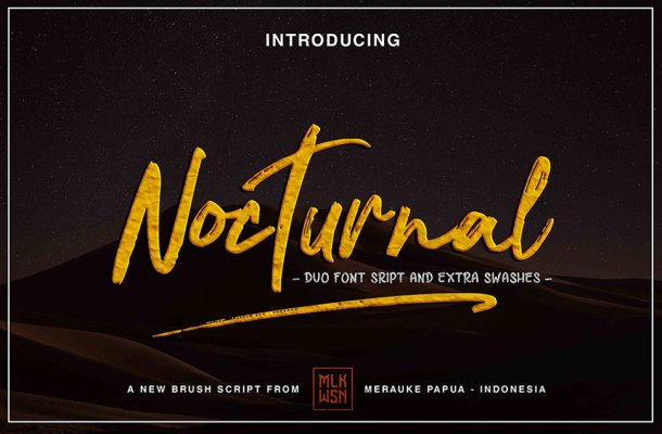 Nocturnal Brush Font