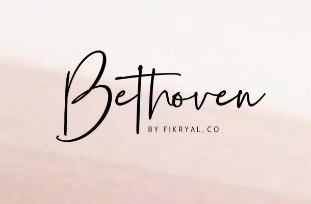 Bethoven Handwritten Font