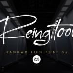 Reingttoon – Handwritten Brush Font