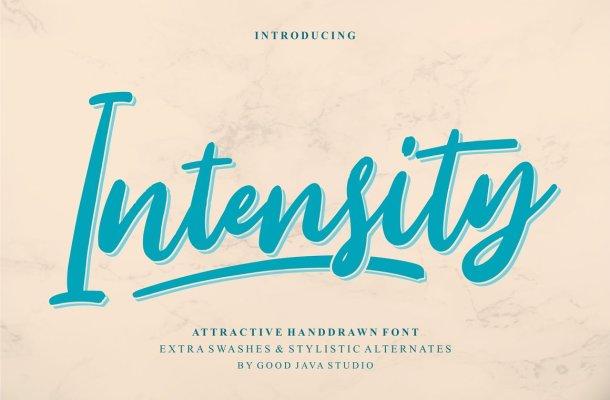 Intensity Script Font