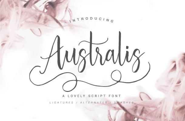 Australis Script Font