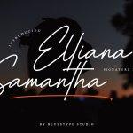 Elliana Samantha Signature Font