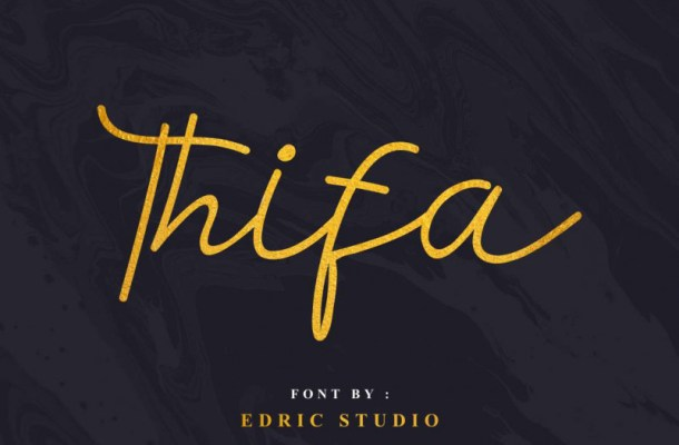 Thifa Script Font
