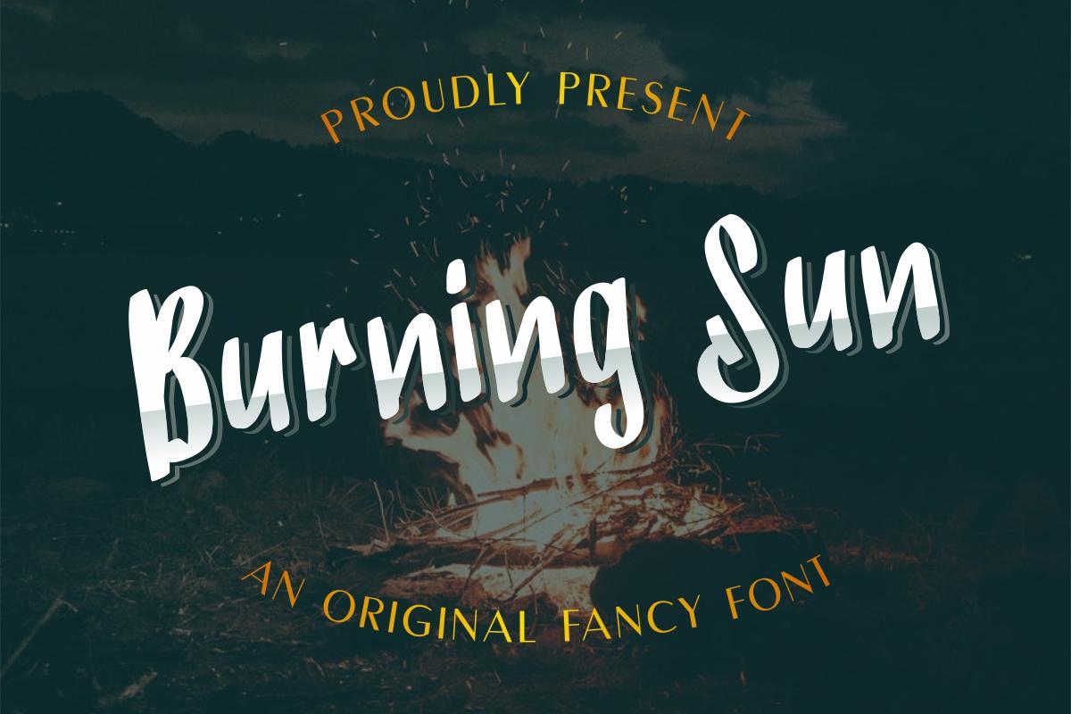 BurningSun-Marker-Font