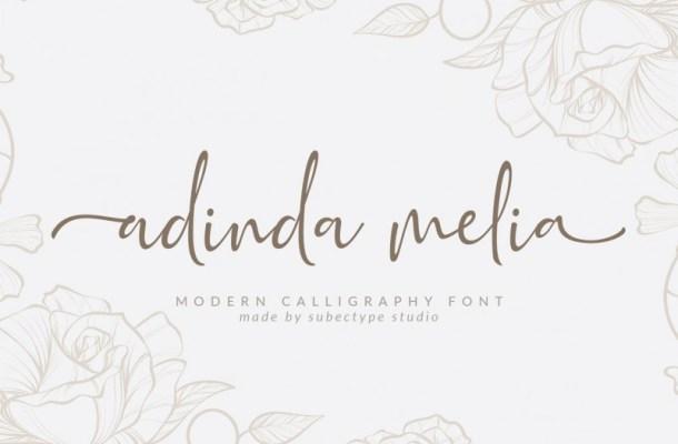 Adinda Melia Script Font