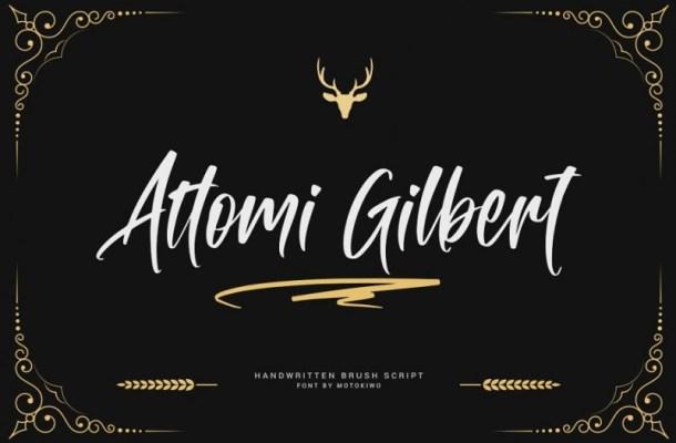 Attomi Gilbert Script Font