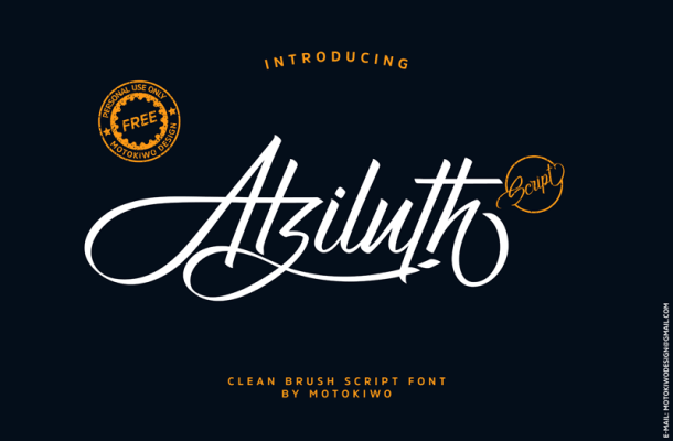 Atziluth Script Font