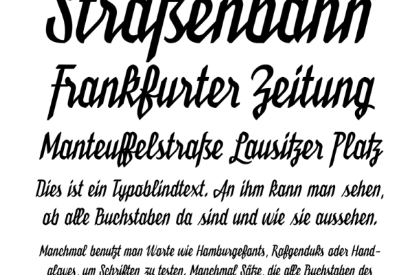 Bukarest Handwriting Font