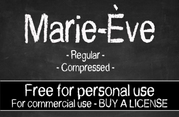 CF Marie Eve font
