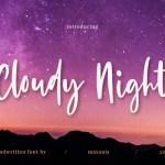 Cloudy Night Script Font