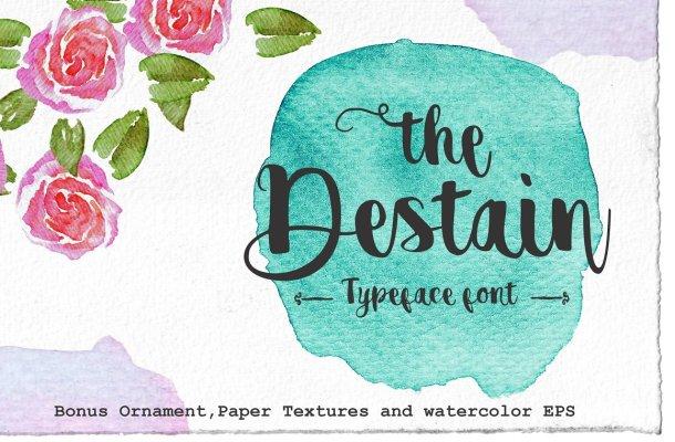 Destain Script Font