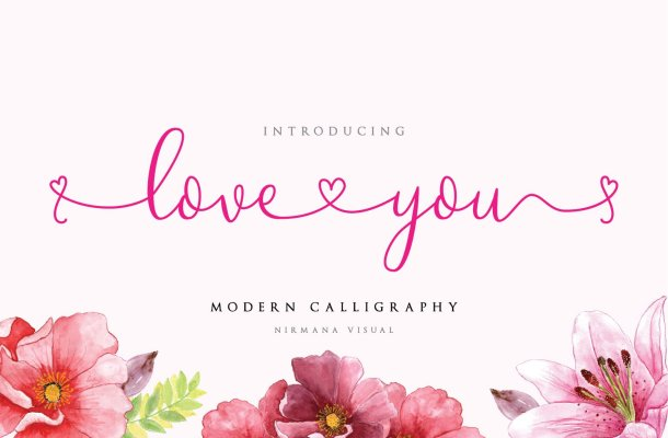 Loveyou – Romantic Font