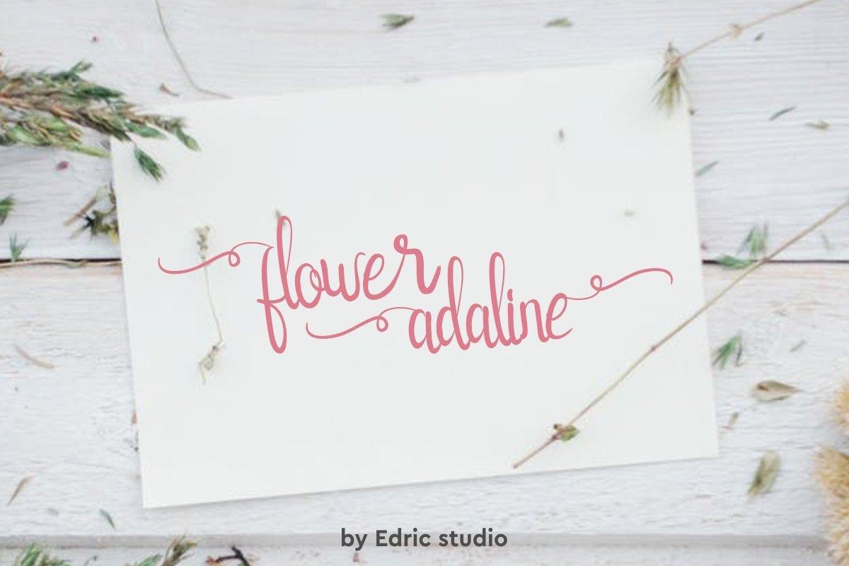 Flower-Adaline-Font