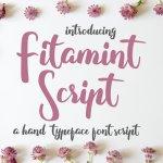 Fitamint Script Font