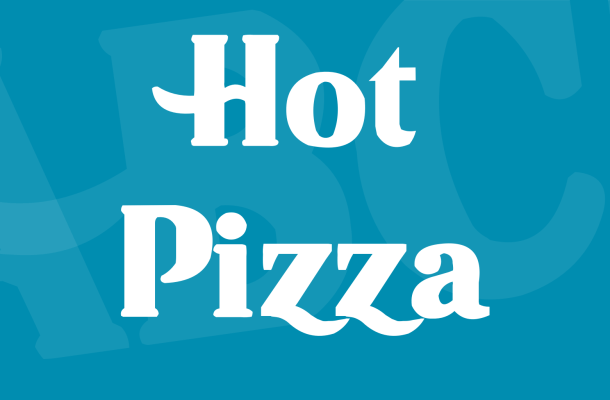 Hot Pizza Font