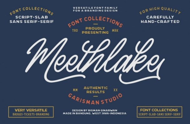 Meethlake – Vintage Font